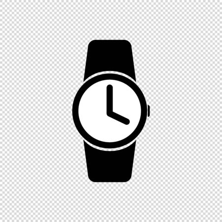 Watch Icon - Flat Vector Illustration - Isolated On Transparent Background