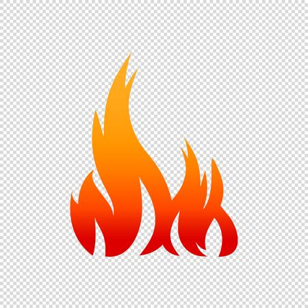 Fire Flame - Vector Illustration - Isolated On Transparent Background