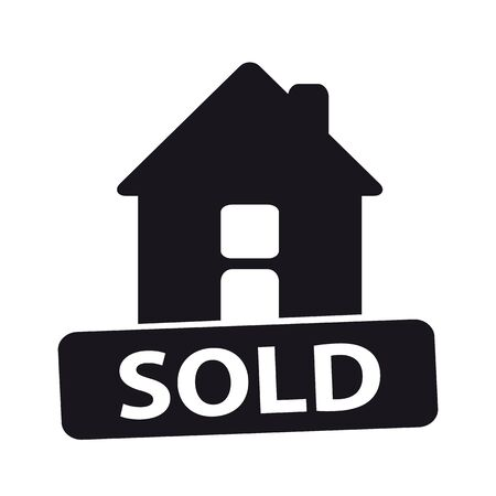 House Sold Vector Icon - Isolated On White Background