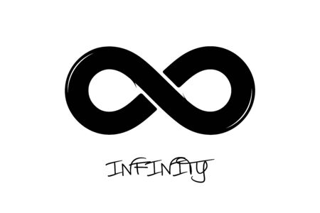 Infinity Icon - Black Vector Illustration - Isolated On White Background
