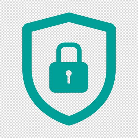 Security Shield Or Virus Shield Lock Icon For Apps And Websites - Isolated On Transparent Background Stock Illustratie
