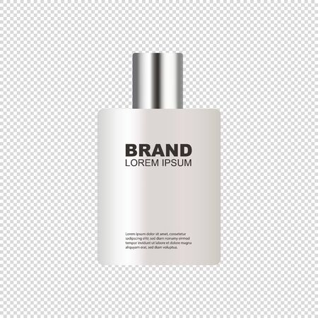 Cosmetic Spray Bottle - Realistic Mockup - Vector Illustration Isolated On Transparent Background Stock Illustratie