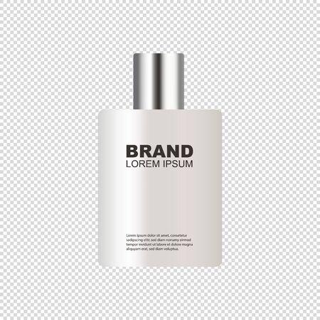 Kosmetische Sprühflasche - realistisches Modell - Vektor-Illustration isoliert auf transparentem Hintergrund