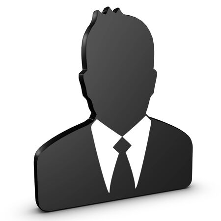 Business Man, Avatar Icon - 3D Illustration Isolated On White Background