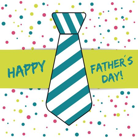 Happy Fathers Day - Tie With Stripes - Dotted Pattern Background 写真素材