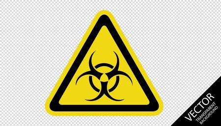Attention Biohazard Warning Sign 向量圖像