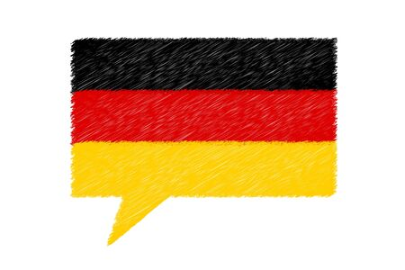German Speech Bubble - Vector Scribble Illustration - Isolated On White Background 版權商用圖片 - 146045359