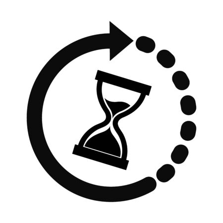 Hourglass Time Icon - Vector Illustration - Isolated On White Background 版權商用圖片 - 146045360