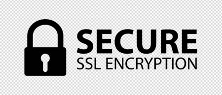 Secure SSL Encryption Banner - Vector Illustration - Isolated On Transparent Background