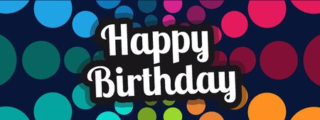 Happy Birthday Banner - Colorful Vector Illustration 向量圖像