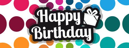 Happy Birthday Banner - Colorful Vector Illustration For Posters, Cards Or Websites 向量圖像