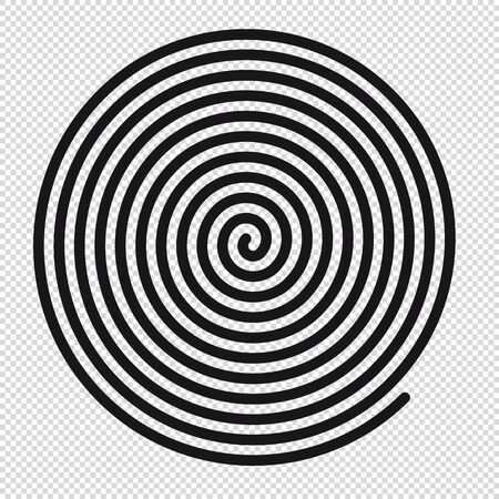 Abstract Round Hypnotic Spiral Vortex - Vector Illustration - Isolated On Transparent Background 版權商用圖片 - 148314660