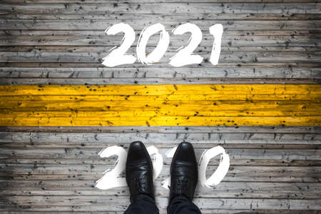 Welcome 2021 - Goodbye 2020 - Start Concept