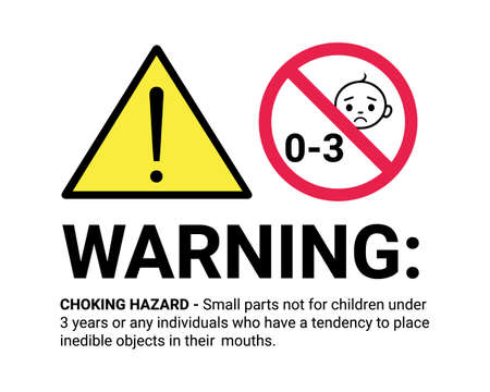 Warning Sign For Children - Vector Illustration Isolated On White Background 向量圖像