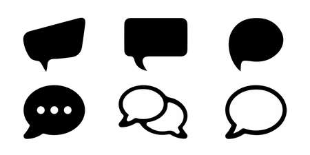 Chat Icon Speech Bubbles - Different Flat Vector Illustrations - Isolated On White Background