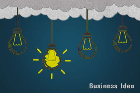 Creative New Idea And Innovation Concept - Realistic Felt Illustration - Isolated On Dark Gradient Background