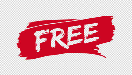 Brush Stroke Free - Red Vector Illustration - Isolated On Transparent Background Stock Illustratie
