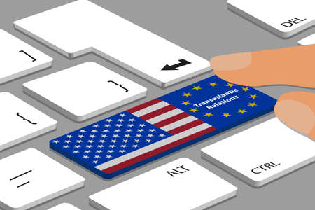 Transatlantic Relations, Common Future Europe And The USA - Political Business Concept