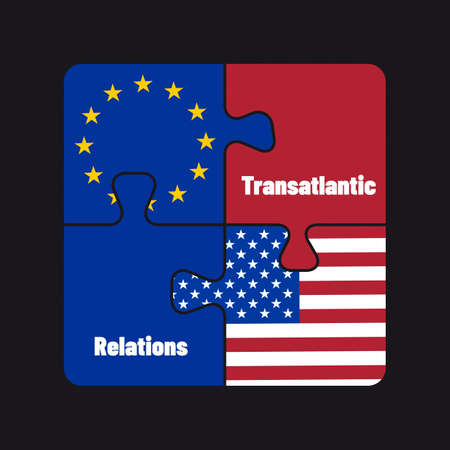 Transatlantic Relations, Common Future Europe And The USA - Political Business Puzzle Concept