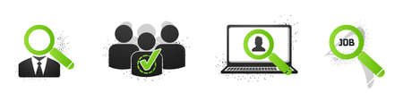 Recruitment Concept Icon Set - Vector Illustrations Isolated On White Background Illustration