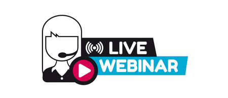 Live Webinar Concept - Vector Illustration Isolated On White Background
