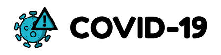 Covid-19 Coronavirus Concept Banner - Attention Vector Illustration - Isolated On White Background 向量圖像