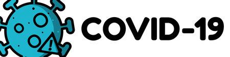 Covid-19 Concept Banner. nAttention Vector Illustration