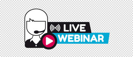 Live Webinar Concept - Vector Illustration Isolated On Transparent Background Stock Illustratie