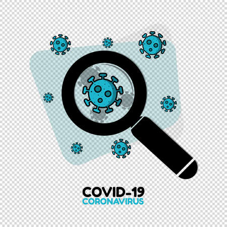 Corona Virus Research Vaccine Concept - Vector Illustration Isolated On Transparent Background Stock Illustratie