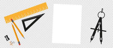 Cartoon Designer Workplace Concept - Vector Illustration Isolated On Transparent Background 向量圖像