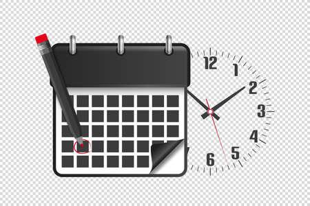 Calendar Date Dead Line Notification Concept - Vector Illustration Isolated On Transparent Background 向量圖像