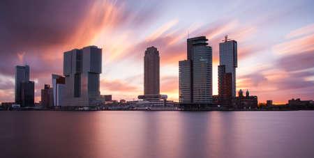 citytrip: rotterdam architecture at sunrise Stock Photo