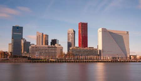 citytrip: rotterdam skyline Stock Photo