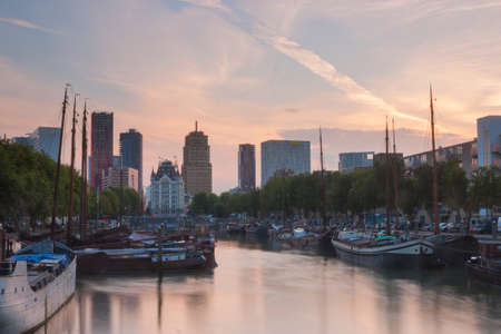 citytrip: Skyline of Rotterdam Editorial