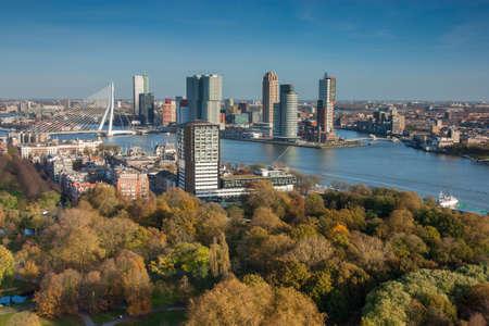 citytrip: Rotterdam skyline from euromast