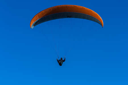 paraglider: paraglider and blue sky Stock Photo