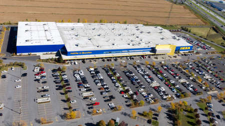 Boucherville October 11, 2016. Aerial view over the Ikea retail store on Montreal south shore, the Swedish giant is expending in Canada.