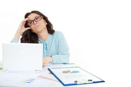 business women working on laptop Stock Photo