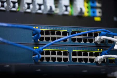 network server: Server Room Networkcommunications server cluster in a server room
