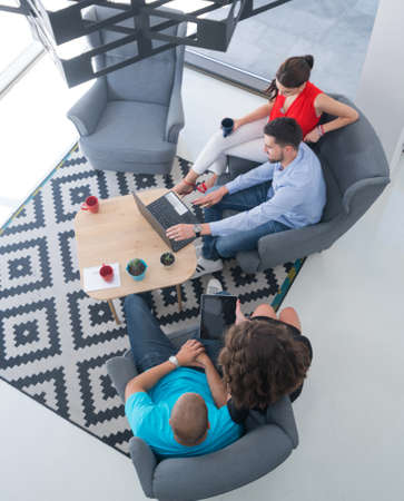 Startup Business People Working Office Corporate Team Concept