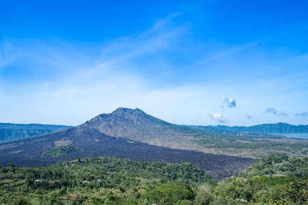 Side of the inactive volcano in Bali, vacation Stock Photo
