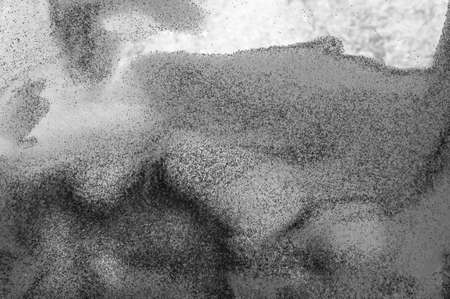 Translucent image of an abstract painting made with sand photo