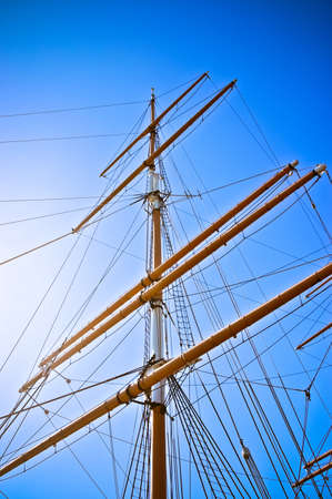 Upwards view of a ship Stock Photo