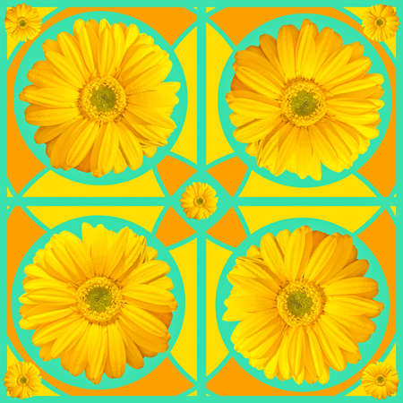 Mandala abstract pattern colorful floral kaleidoscopic image background photo