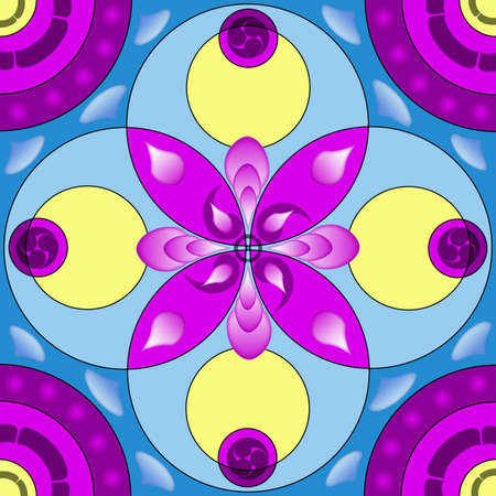 Mandala circular abstract pattern colorful floral kaleidoscopic image background Stock Photo - 13002369