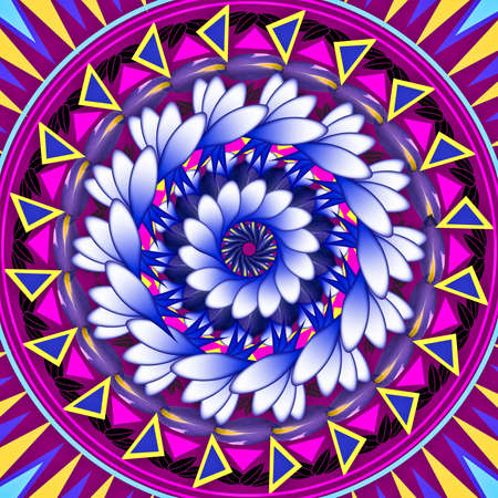 Mandala circular abstract pattern colorful floral kaleidoscopic image background Stock Photo - 13002453