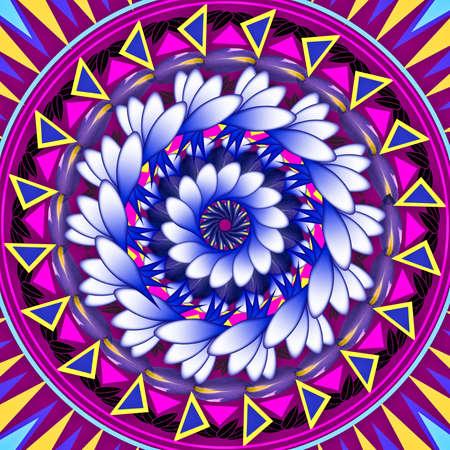 Mandala circular abstract pattern colorful floral kaleidoscopic image background Stok Fotoğraf - 13002453