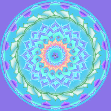 Mandala circular abstract pattern colorful floral kaleidoscopic image background Stock Photo - 13002423