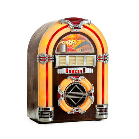 Jukebox classic, retro music record player, isolated photo