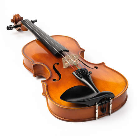 Violin isolated on white photo